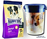 2 x 10 kg + Futtertonne 43 Liter Happy Dog Supreme Junior Original