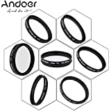 Andoer 40.5mm UV + CPL + Star8 + Close-up (+1 +2 +4 +10) Photography Filter Ultraviolet Circular-Polarizing Star 8-Point Macro Close-up Lens Filter For Canon Nikon Sony DSLR Camera Lens