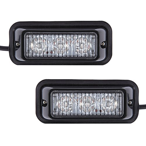 Discoball - avvertimento luce stroboscopica - LED 12 V 24 led ambra lampeggiante di emergenza Luci/Hazard Warning Mini illuminazione bar/Faro/con base magnetica per auto rimorchio Caravan SUV Barca Marine tetto sicurezza