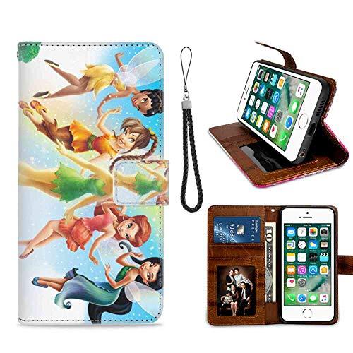 Etui Portefeuille Compatible iPhone 7 Plus, 8 Plus 5.5 Pouces Fée Clochette et Fairy Girl Disney Antichoc
