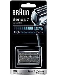 Braun Kombipack 70S Ersatz-Scherkopfkassette für Series 7 und Pulsonic Elektrorasierer, silber