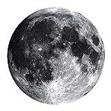WW Teppich Kreative Mond Stühle Teppich Rutschfeste Runde Teppich Schlafzimmer Wohnzimmer Teppich Nachttischmatte,Durchmesser 140 cm