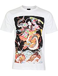 PALLAS Unisex's Japanese Warrior Samurai Traditional Art T-Shirt