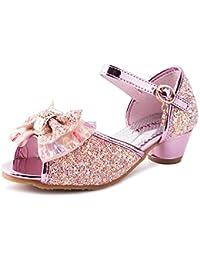 7e3356a03 Zhongsufei Zapatos de Princesa Little Girl Princess Zapatos de Vestir Mary  Jane (Color   Rosado