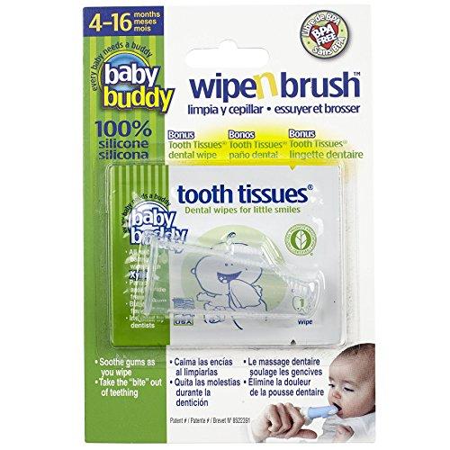 Baby Buddy - Cepillo dedal para limpieza con toallitas