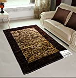 #2: Avioni Rugs Coffee Shades Carpets For Living Room Actual Feather Touch- Softness Guaranteed-Handloom Made Reversible Light Weight -3 Feet X 5 Feet (Limited Period Promotional Price)