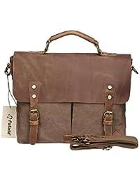 Fafada Herren Retro Canvas Freizeit Schultertasche Umhängetasche Handtasche Schultasche Messenger Bag Unitasche