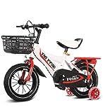 SXMXO Bicicleta Montaña 12' 14' 16' 18' Bicicleta Infantil Niño Y Niña   12 14 16 18 Pulgadas   A Partir De 3 Años   V-Brake Y Freno De Contrapedal   Modelo BMX 2019,White,18inches