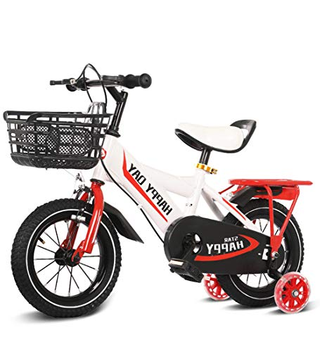 """SJSF Y Kinderfahrräder 12\"""" 14\"""" 16\"""" 18\"""" Zoll Kinderfahrrad Jungen Mädchen Ab 3 Jahre Mit V-Brake Und Rücktritt - BMX Modell 2019,White,12inches"""