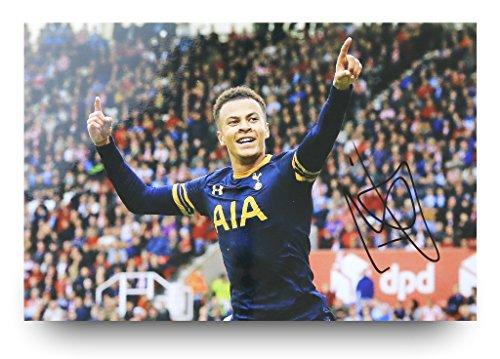 Dele-Alli-Signed-12×8-Photo-Genuine-Tottenham-Hotspur-Memorabilia-Autograph-COA