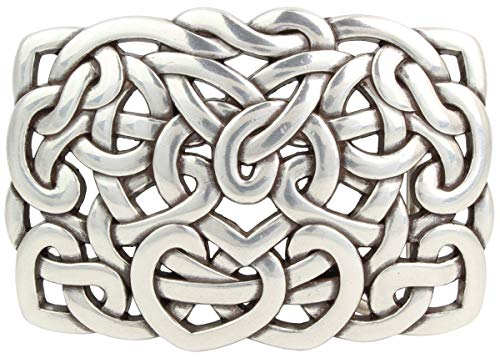 Brazil Lederwaren Gürtelschließe Knoten Design 4,0 cm