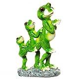 Frosch Familie im Gänsemarsch Figur Gartenfigur Frosch