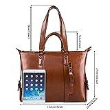 S-ZONE 3-Way Ladies Womens Cow Split Leather Tote Bag Handbag Shoulder Bags