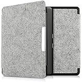 kwmobile Flip Filz Hülle Case für Kobo Glo HD (N437) / Touch 2.0 - Tablet Tasche Cover aufklappbar in Hellgrau