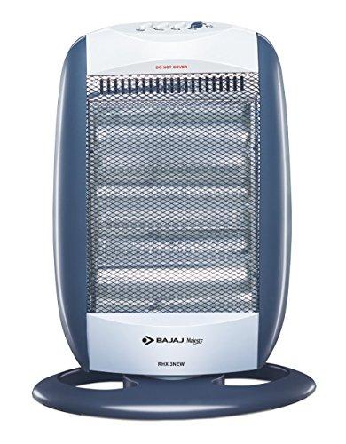 Bajaj New Majesty RHX 3 1200-Watt Room Heater (Black and Silver)