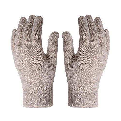 Extra warme Damen Fäustlinge div Farben Handschuhe Grau Creme Schwarz