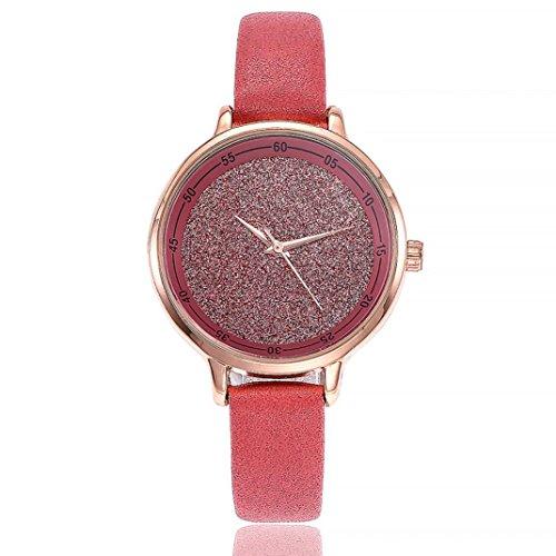 Relojes Pulsera Mujer,Xinan Cuero PU Acero Inoxidable Analógico Cuarzo Reloj (F)