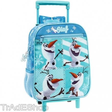 Trade shop traesio- zaino zainetto trolley asilo con carrello a 2 ruote disney frozen olaf