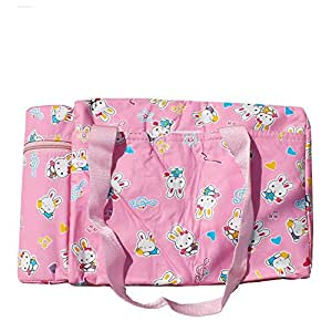 Baby Diaper Bag/Mothers Bag with Feeder Warmer- Pink