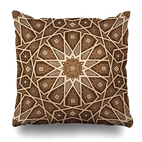 Klotr Fundas Almohadas Arabic Brown Moroccan Oriental