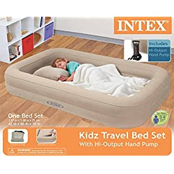 Intex Kidz Travel Bed with Hand Pump, Beige