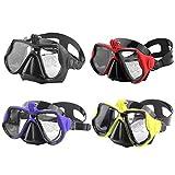 HDJYJ Schwimmbrille Schnorchel Tauchmaske Schwimmbrille Schnorchelbrille Eyewear, rote Farbe