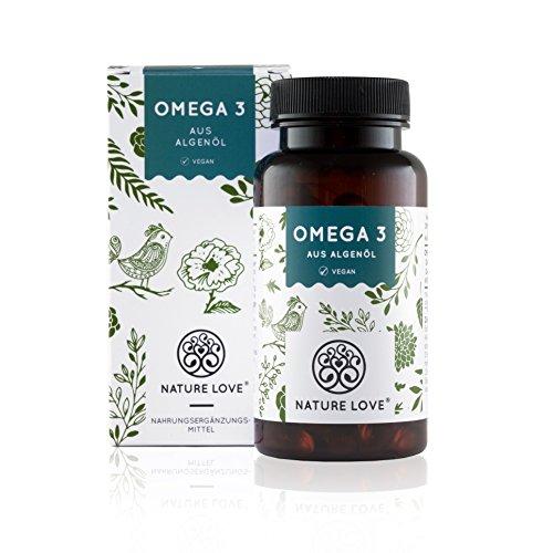 Vegane Omega 3 Algenöl Kapseln - Zum Einführungspreis. Premiumqualität: Pflanzlich aus Algenöl. 120 kleine, leicht schluckbare Kapseln. Enthält EPA und DHA Fettsäuren. Vegan, hochdosiert und hergestellt in Deutschland