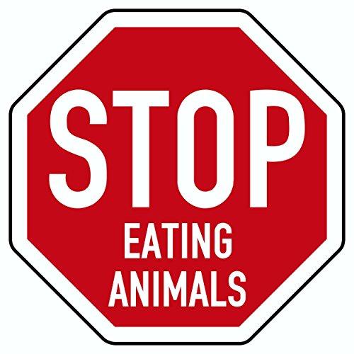Aufkleber Stop Eating Animals weiß/rot ~~~~~ schneller Versand innerhalb 24 Stunden ~~~~~ -