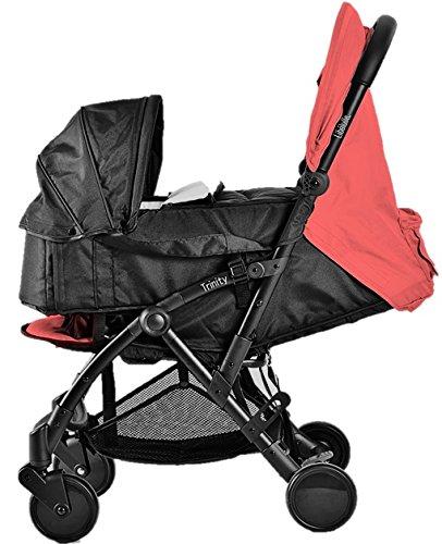 Pack Duo Nacelle Trinity 2 Kinderwagen, ultraleicht, 5,5kg, ultrakompakt, Transporttasche, Flugzeug, leicht, 2 kg, zusammenklappbar, 0/9 kg, Rot