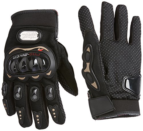 Probiker-Leather-Motorcycle-Gloves-Black