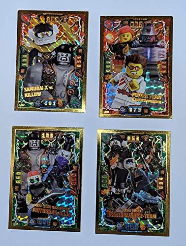 Serie 4 Ninjago Limited Edition + Bonus, 4 Stück Limitierte Gold Karten LE 17 - LE 20 - Gold Serie 20