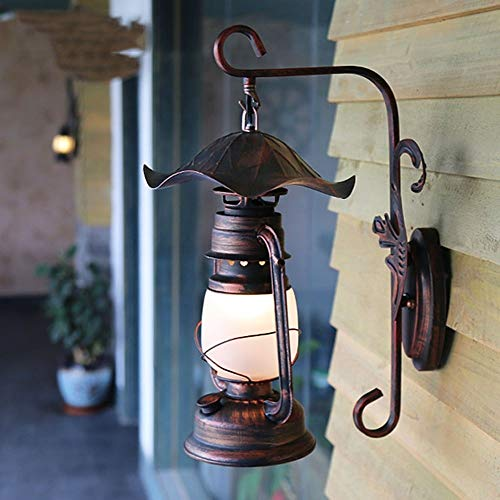 ZLHLL Pasillo Lámpara de Pared Antiguo Rábano Picante Vintage Lámpara de Queroseno Patio Corredor Retro Lámpara de Pared Decorativa