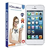 CELLBELL® Tempered Glass Screen Protector For Apple iPhone 5 5s With FREE Installation Kit