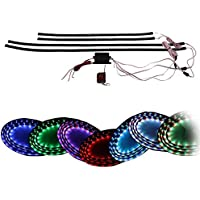 4pcs per confezione brother-coop ® 7 colori LED sotto car kit Underbody sistema striscia LED 24