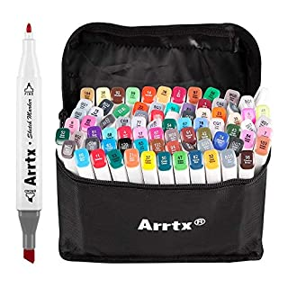 80 Farben Marker Stift, verdoppelt spitzt Graffiti Pens, Marker Pen set mit für Studenten Manga Kunstler Design Schule Drawing Sketch Pen Art Supplies mit Aufbewahrungstasche