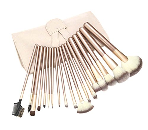18 Pièces Drôle Pinceaux outil/Pinceaux de maquillage professionnels, Blanc