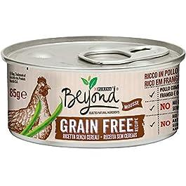 PURINA BEYOND Umido Gatto Grain Free ricco in Pollo con fagiolini – 12 lattine da 85g ciascuna (confezione da 12x85g)