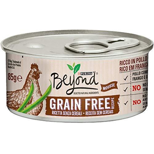 PURINA BEYOND Umido Gatto Grain Free ricco in Pollo con fagiolini - 12 lattine da 85g ciascuna (confezione da 12x85g)