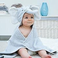 Elephant Baby Towel Dove Grey