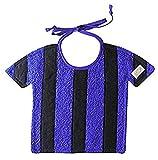 Zigozago - Bavaglino Football a RIGHE NERO e AZZURRO; Chiusura: Laccetti; Taglia: Unica