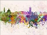 Posterlounge Forex-Platte 130 x 100 cm: Cardiff-Skyline von Editors Choice