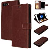 [Sponsored]M@SKED™ Premium Leather Flip Cover For IPhone 8 - Genuine PU Leather Wallet Case - Classic Brown