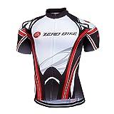 ZEROBIKE® Maglia da uomo a maniche corte per ciclismo Maglia da corsa Abbigliamento casual impermeabile Camicie Quick Dry Camicie traspirante