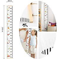 """Baby Growth Chart Wall Hanging Ruler, Amariver Canvas Removable Height Growth Chart Wall Room Decoration for Kids Children,79"""" x 7.9"""""""