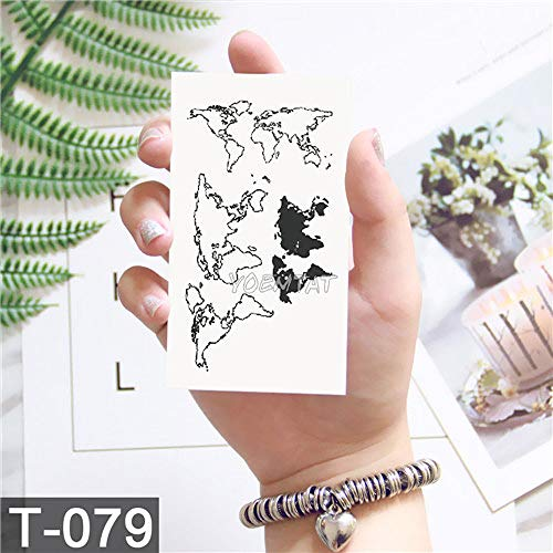 Tzxdbh tattoo impermeabile sticker 10pcs 10.5 * 6cm fox body art tatuaggi tatuaggio tatuaggio uomo donna 10pcs-