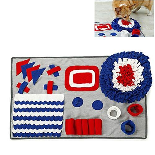 YCGJ Dog Feeding Mat, Dog Snuffle Mat Small/Large Dog Feeding Mat Pet Training Mats Puzzle Toys for Stress Release,Grays(50 * 75CM)