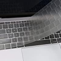 MOSISO Cover per Tastiera Compatibile con MacBook PRO 13 Pollici 2017 e 2016 Versione A1708 No Touch Bar & New MacBook 12 Pollici Protezione Pelle A1534 (Layout EU),Chiaro