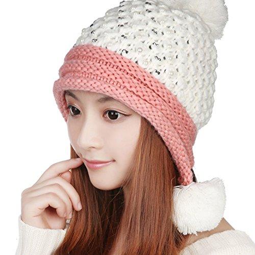 chapeau en laine coréen/Mode bonnet/Capuchon thermique féminin/ oreille tricot bonnet C