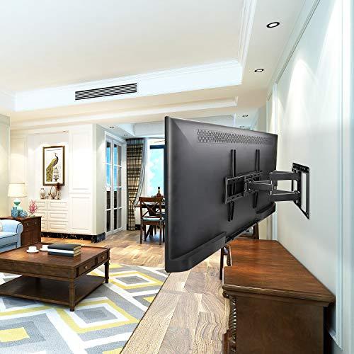 Mounting Dream TV Wandhalterung Schwenkbar Neigbar Fernseher Halterung für die meisten 66cm-140cm (26-55 Zoll) LED, LCD, OLED und Plasma TVs mit VESA 75x75-400x400mm bis zu 45kg