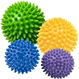 Description 4 Spiky Massage Balls for massage, relaxation exercises, hand therapy and reflexology. When to them Apply in circular motions for a firm massage and to improve circulation. Stimulate muscle reflexes to ease tension and provide relaxation ...